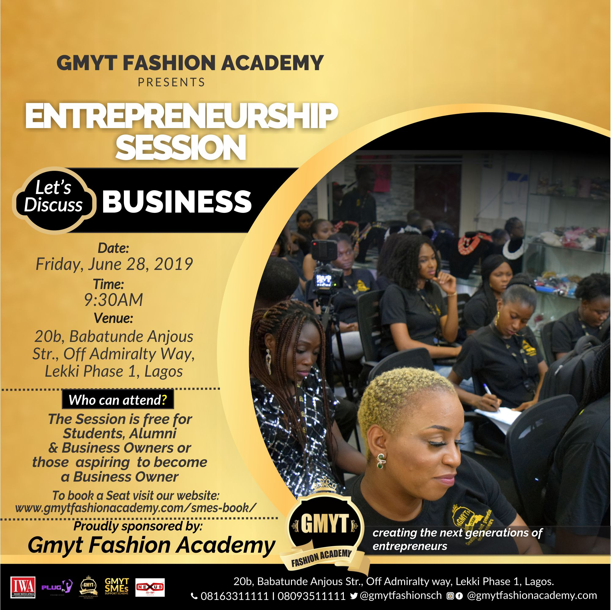 GMYT may ENTREPRENUER SESSION