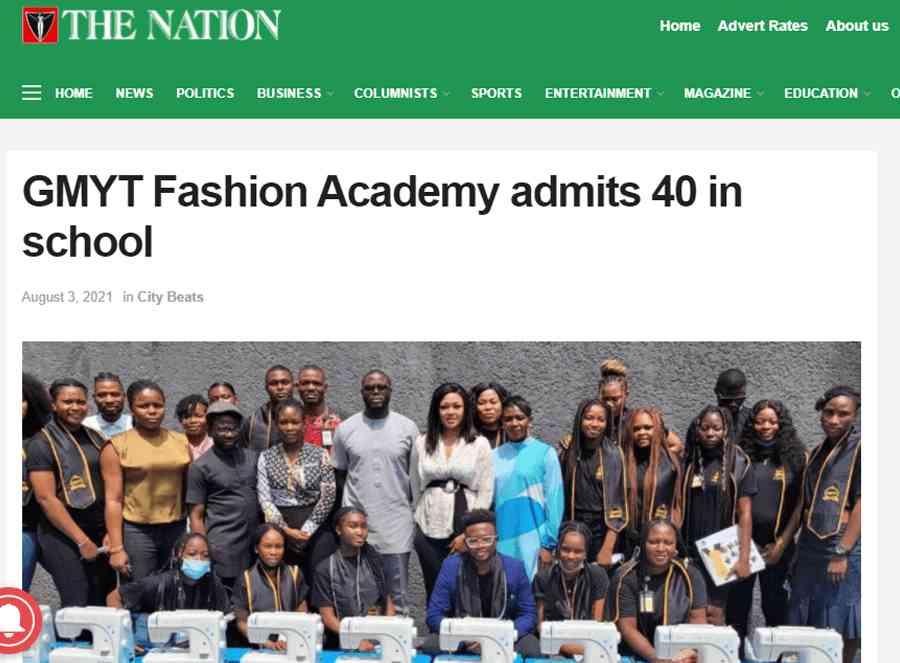 GMYT Fashion Acabdemy admits 40 in school